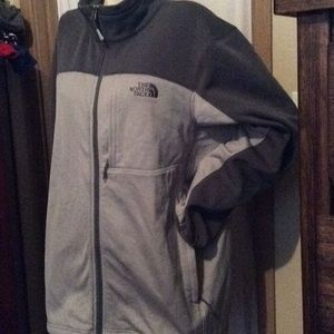 Extra large North Face Jacket men's zip up gray